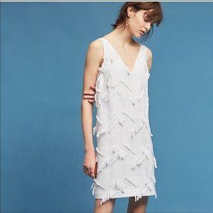 Anthropologie Maeve White shift dress